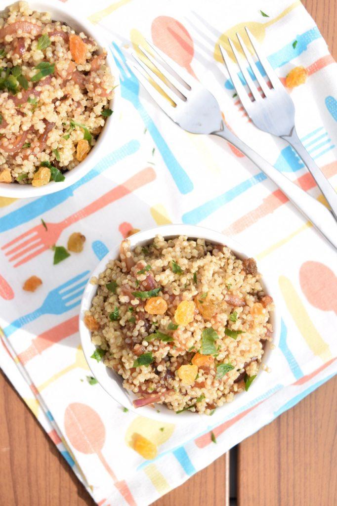 Caramelized Onion Quinoa Bowl