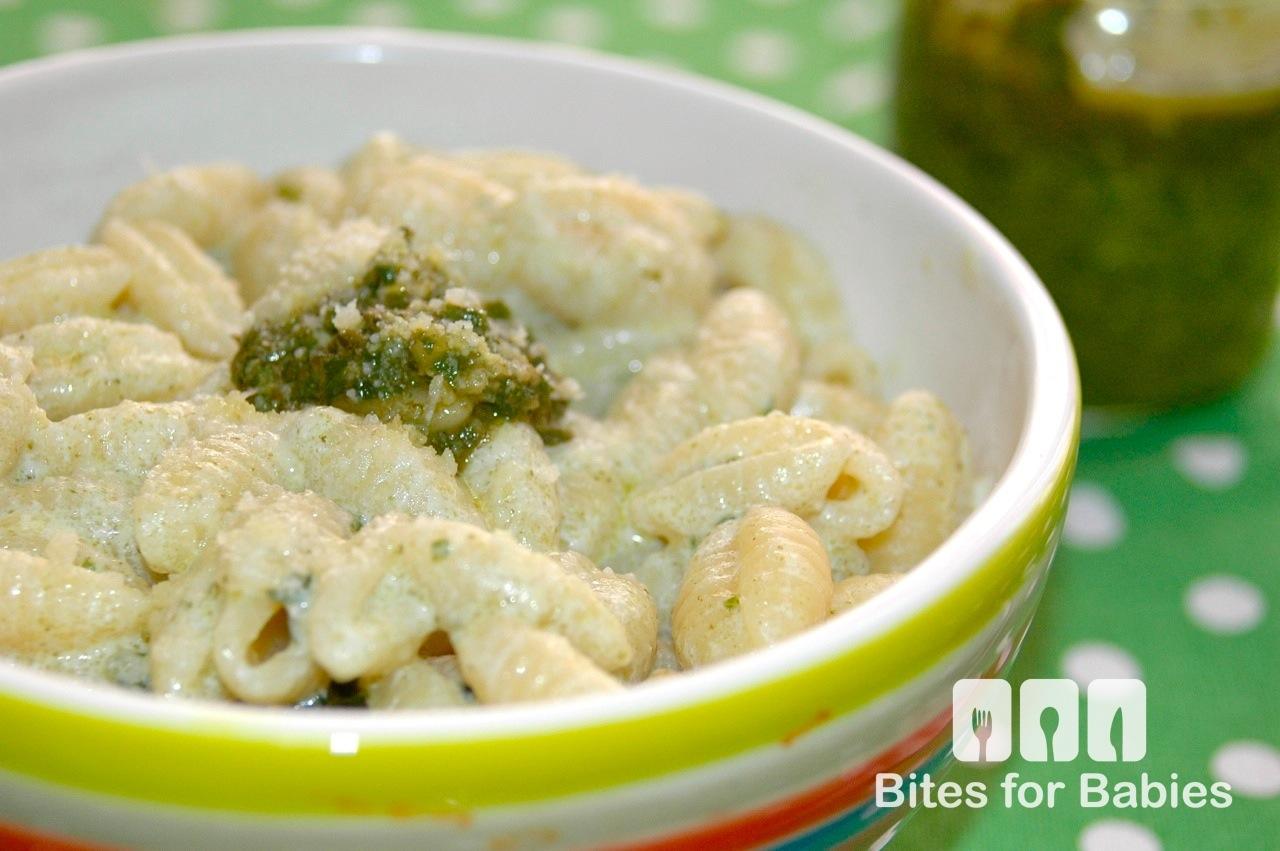 Cheesy Pesto Gnocchi