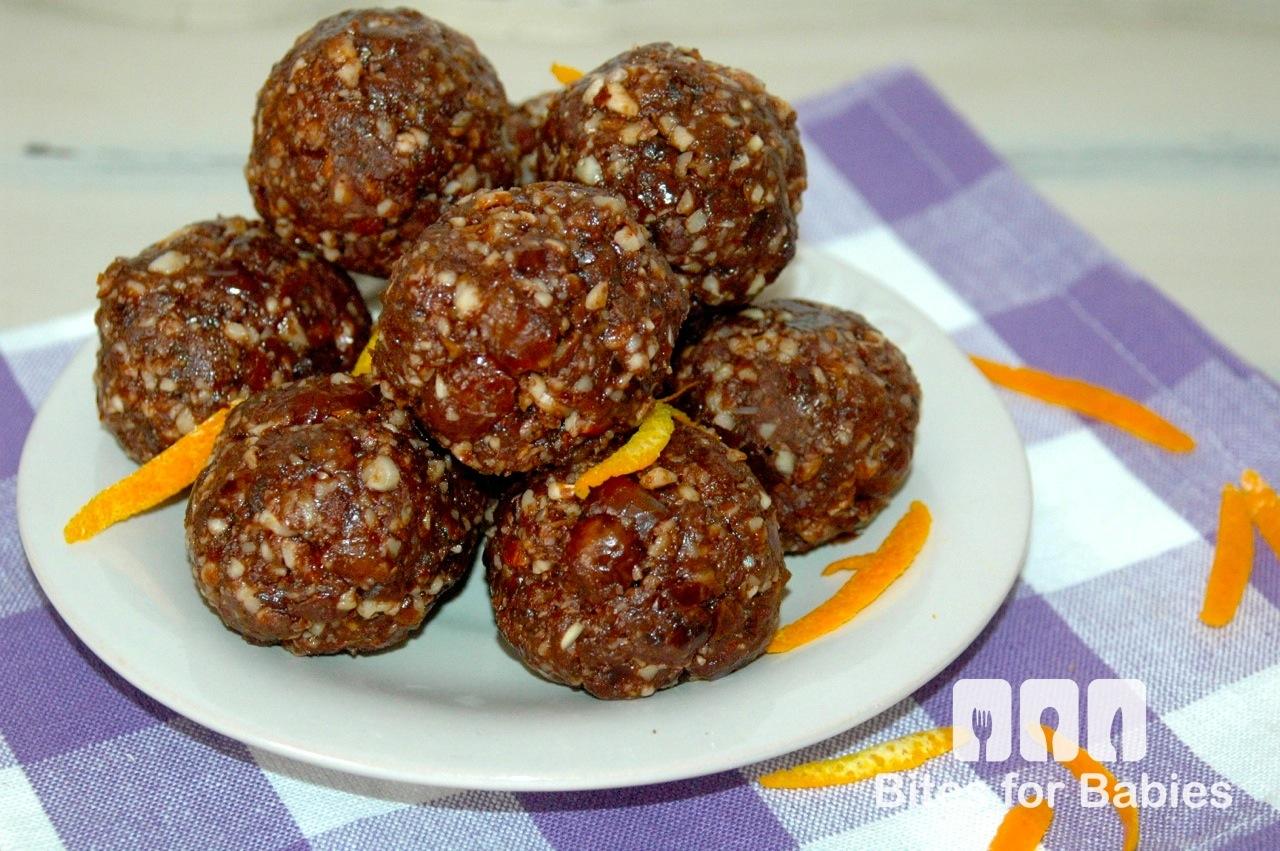 Chocolate Orange Almond Bites - Bites for Foodies
