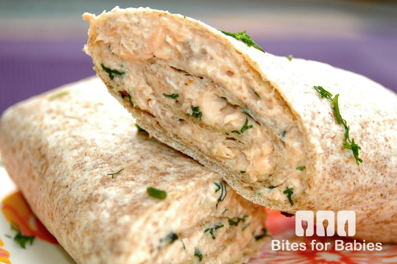 Salmon Wrap with Dill Lemon Mayo
