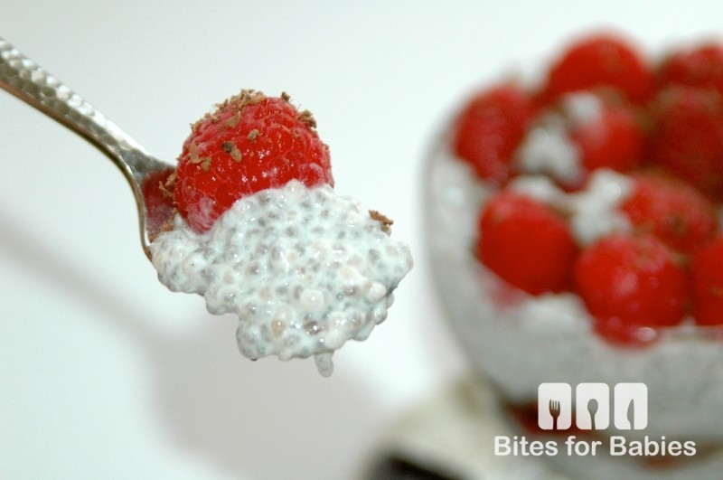 Raspberry Chocolate Chia Pudding Parfait