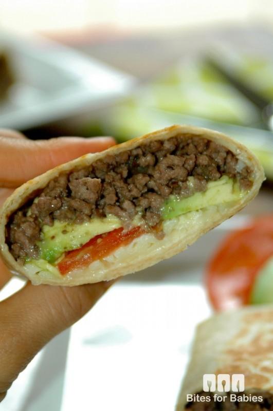 Cheeseburger Burrito Wraps
