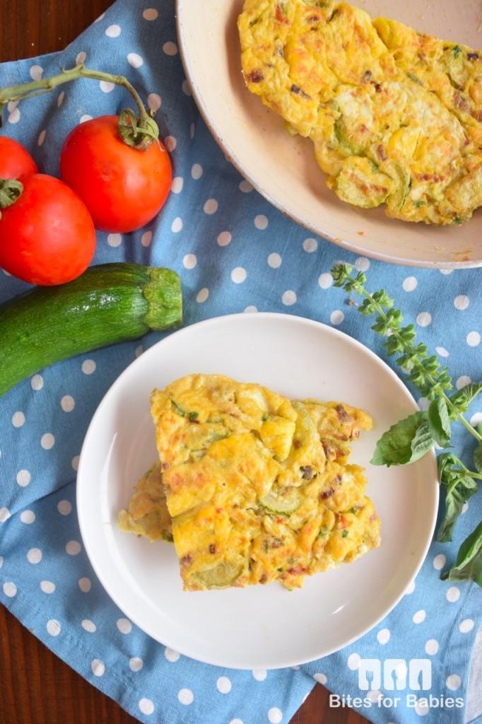 Zucchini Blossom Frittata