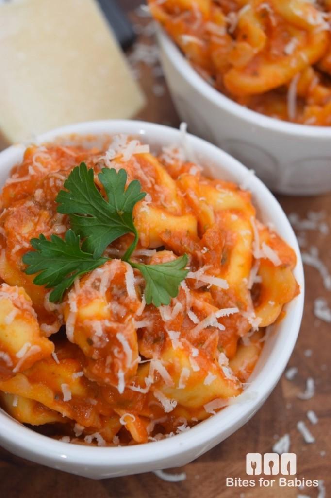Tortellini with Zucchini Tomato Sauce