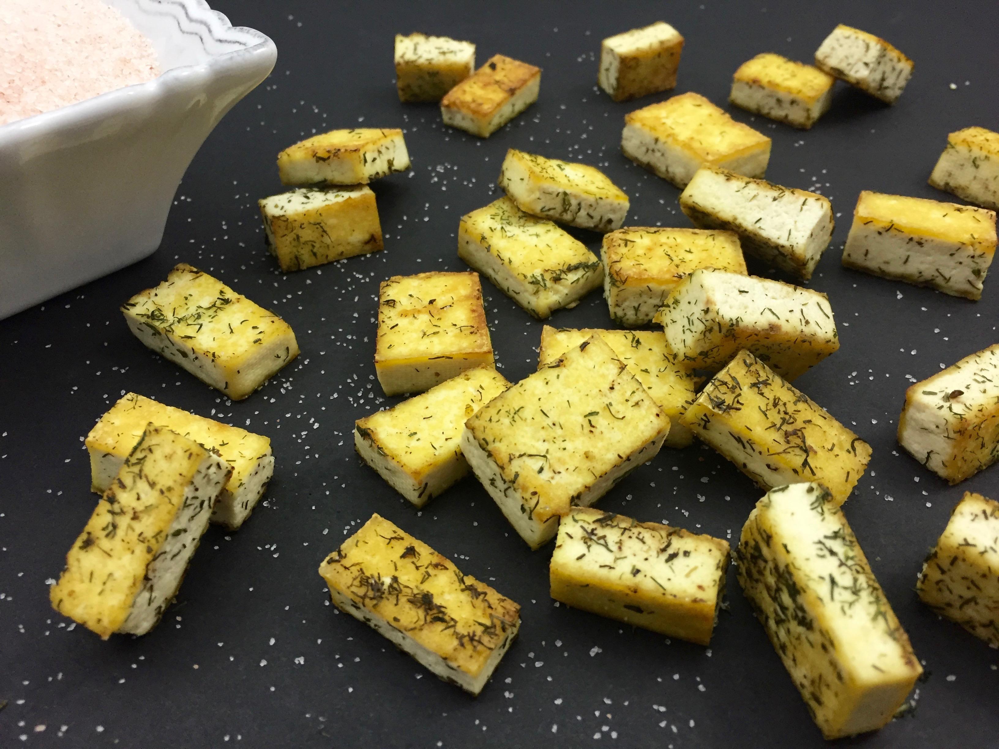 Sautéed Tofu Croutons