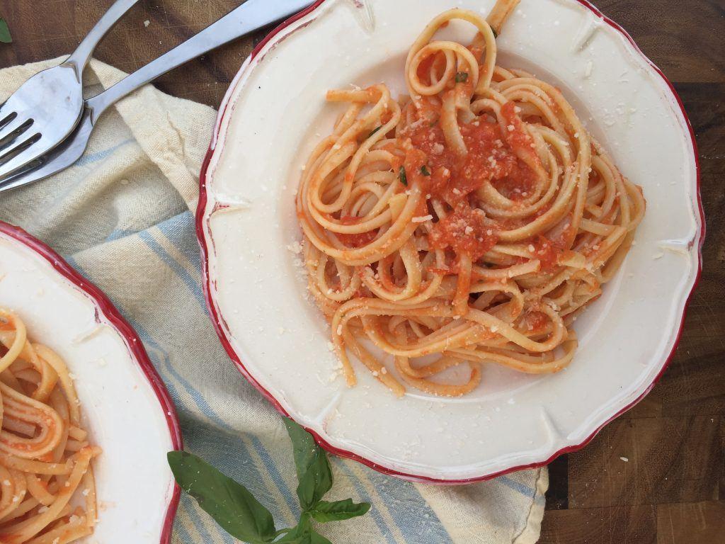 Roasted Tomato Fettuccine