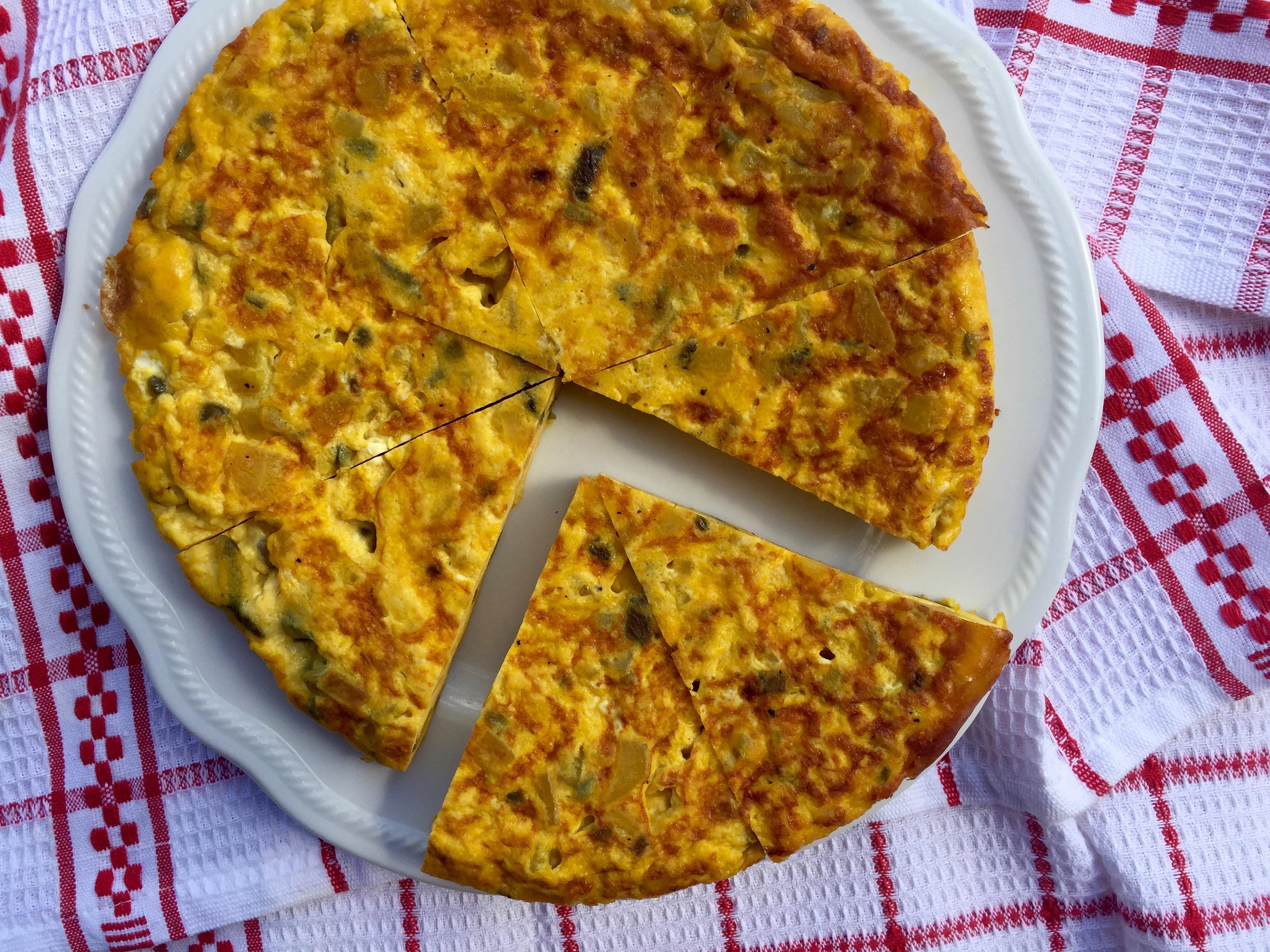 Potato Saffron Frittata