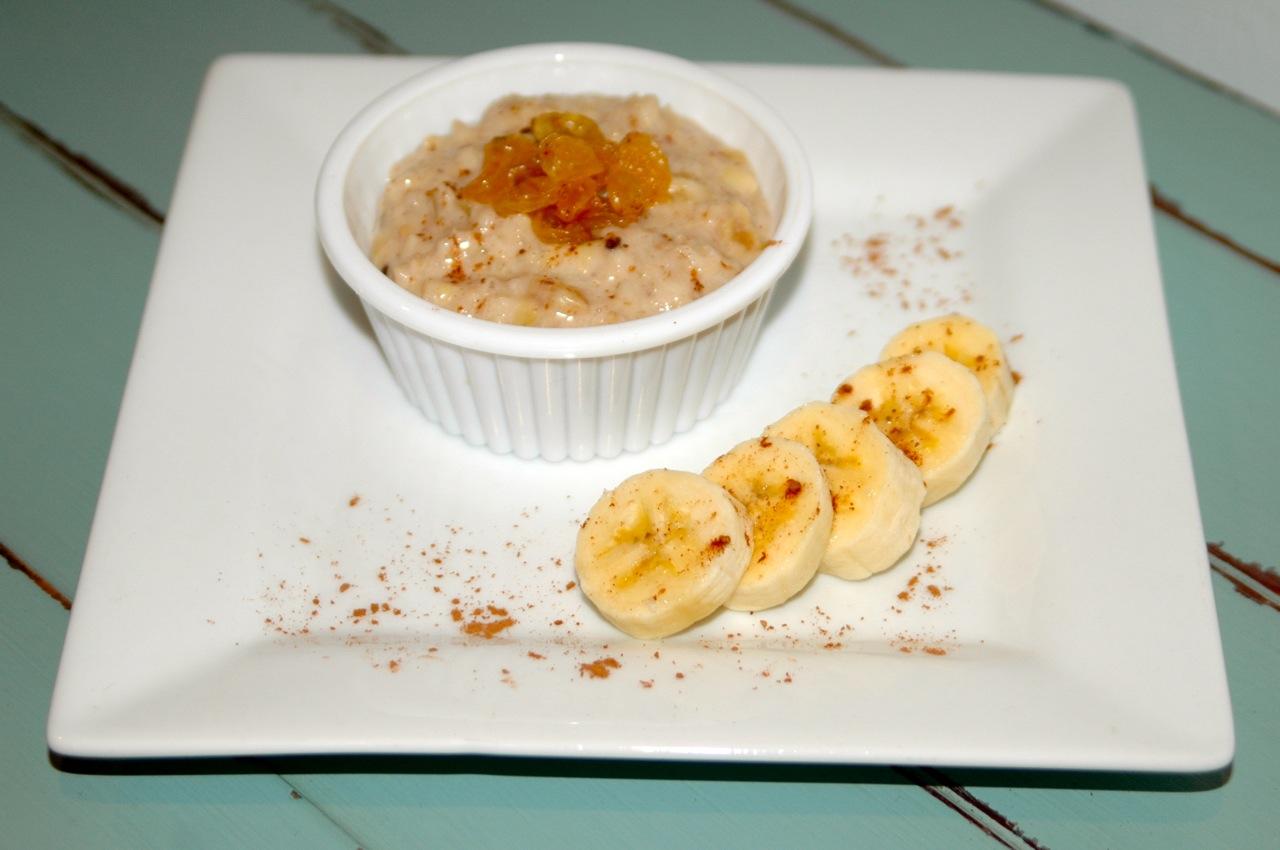 Carob-Spiced Banana Flax Oatmeal