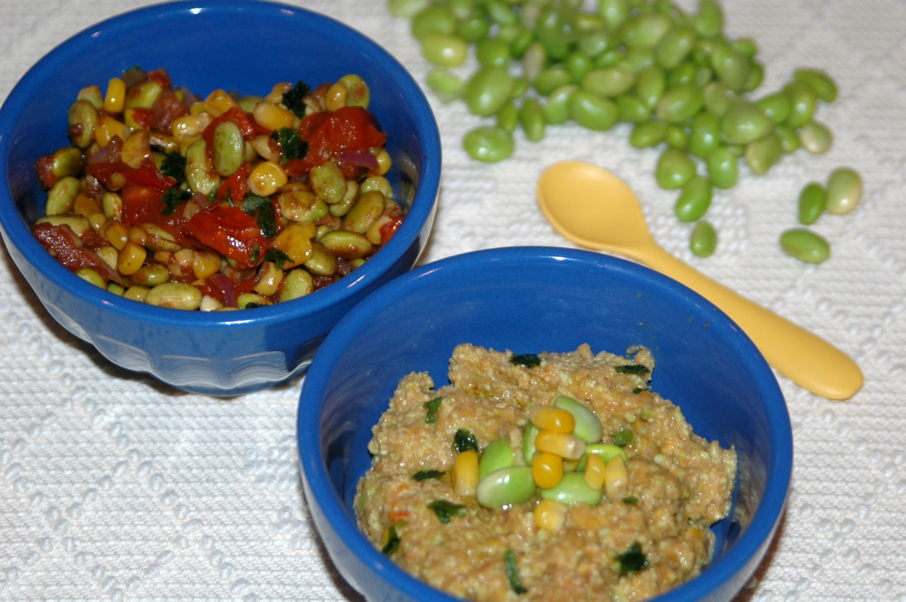 Balsamic Roasted Edamame Corn and Tomato Succotash