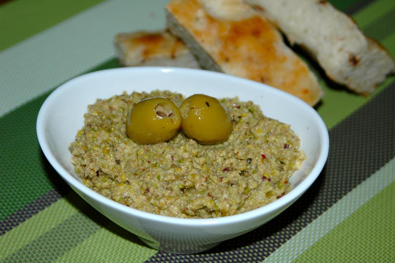 Green Olive Pistachio Tapenade