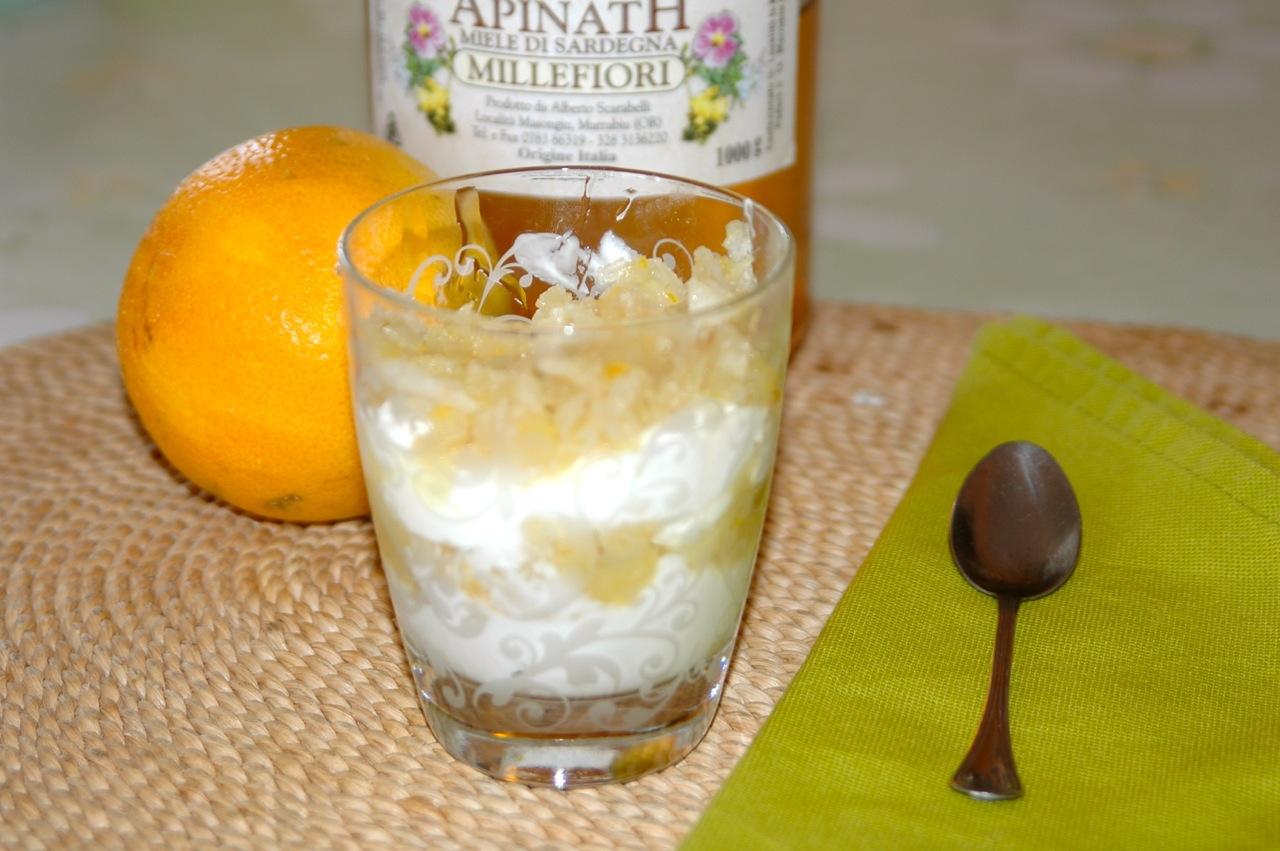 Honey and Orange Infused Pear Yogurt Parfait