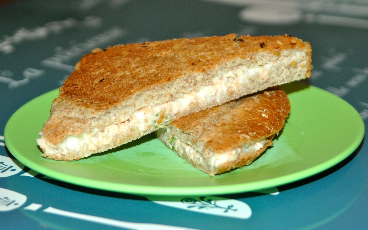 Salmon and Cream Cheese Grilled Sammie