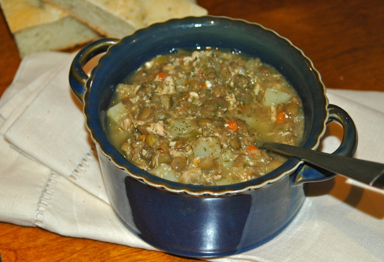 Chicken Potato and Dill Lentil Stew