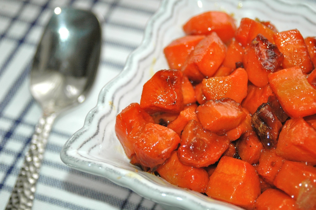 Ginger-Glazed Carrots and Caramelized Onions - Bites for ...