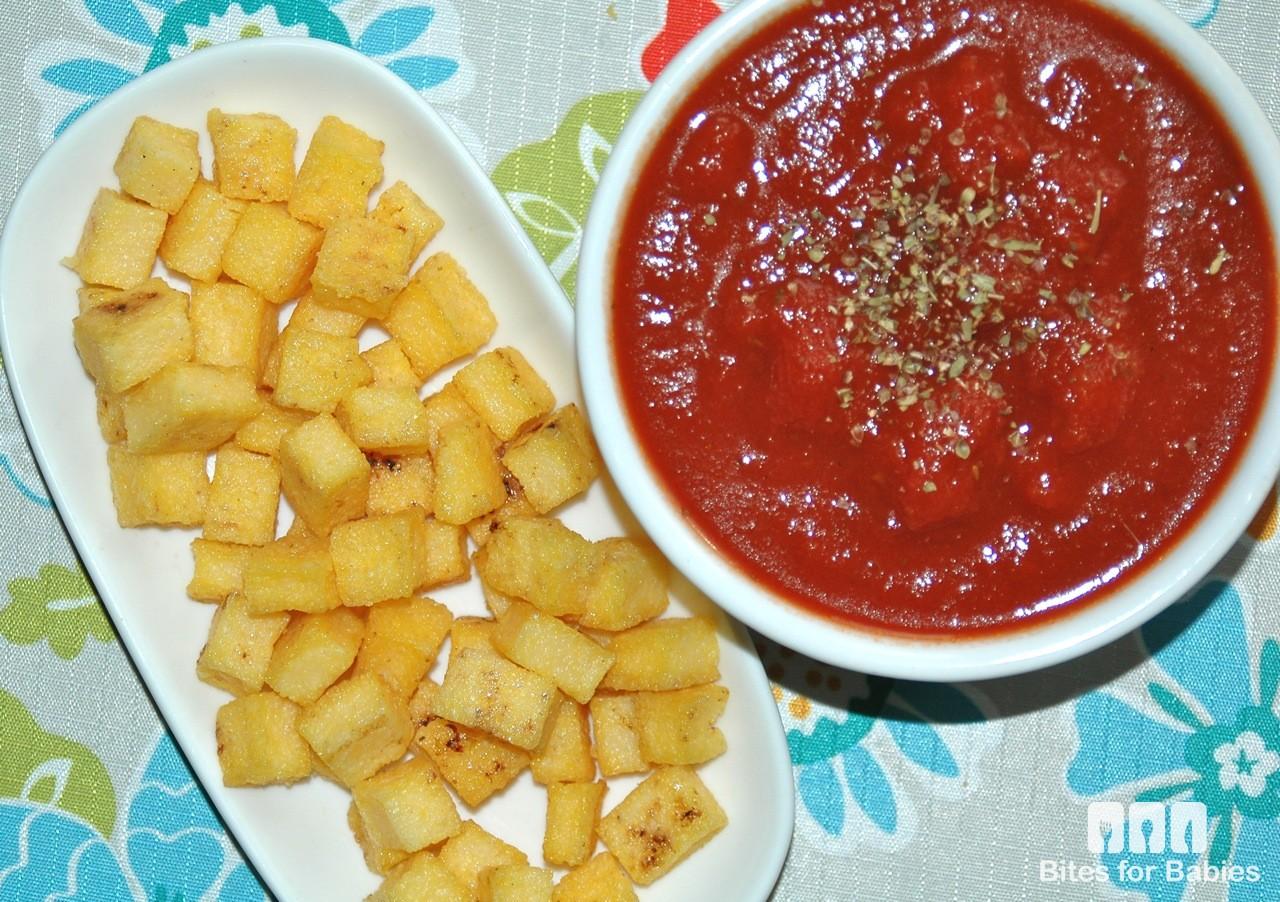 Crispy Polenta Croutons