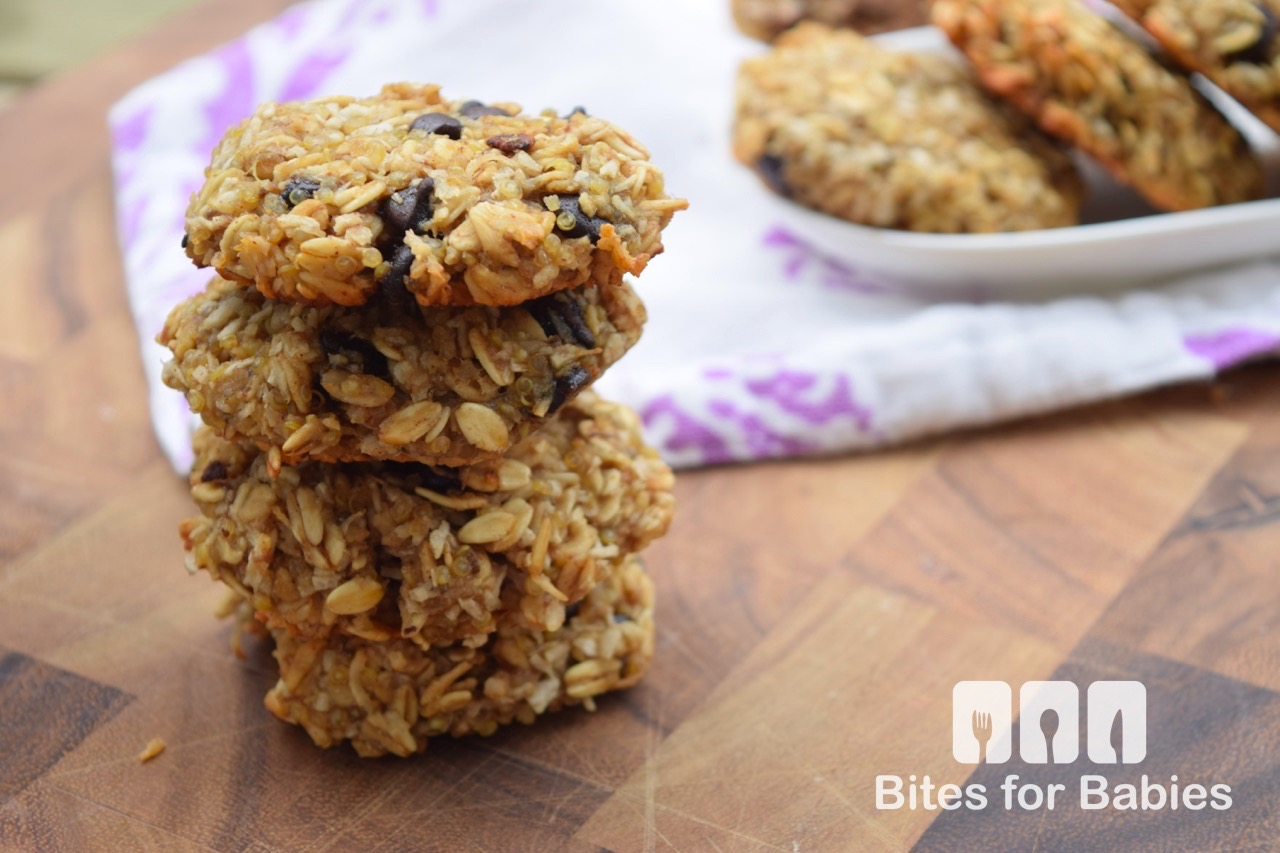 Banana Coconut Quinoa Cookies