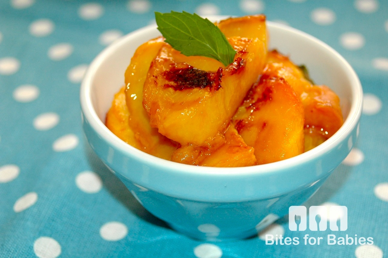 Honey and Mint Roasted Peaches