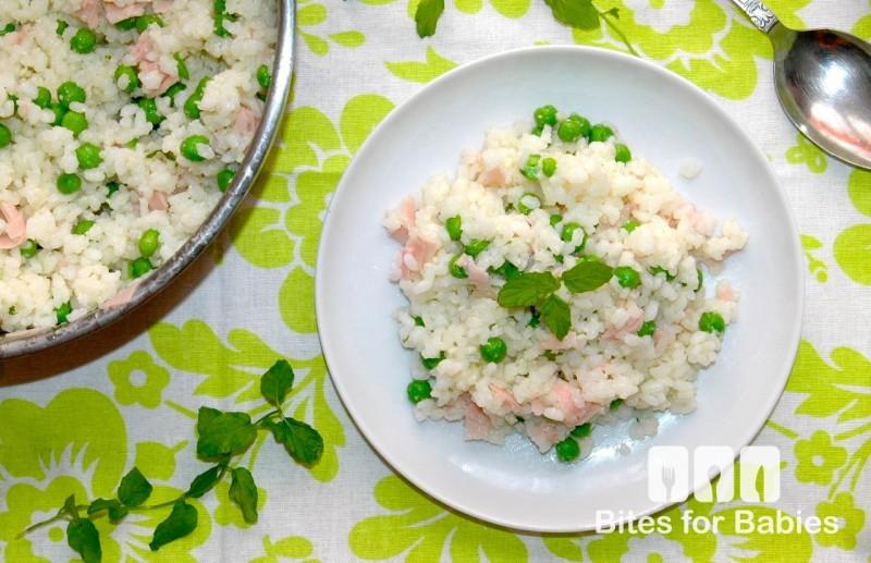Sweet Pea Prosciutto Rice Salad