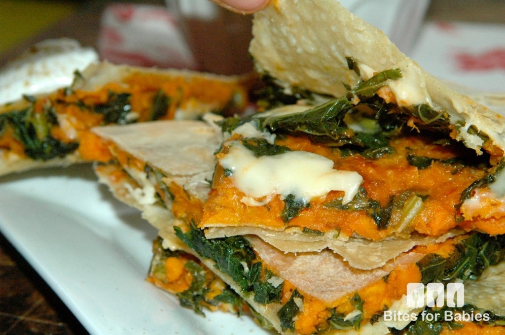 Kale Sweet Potato Quesadillas