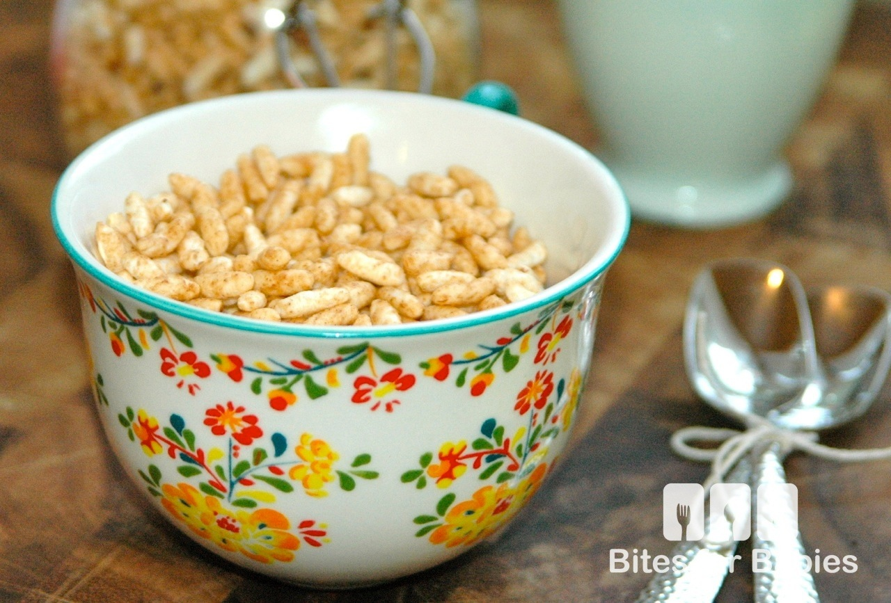 Homemade Puffed Rice Cereal
