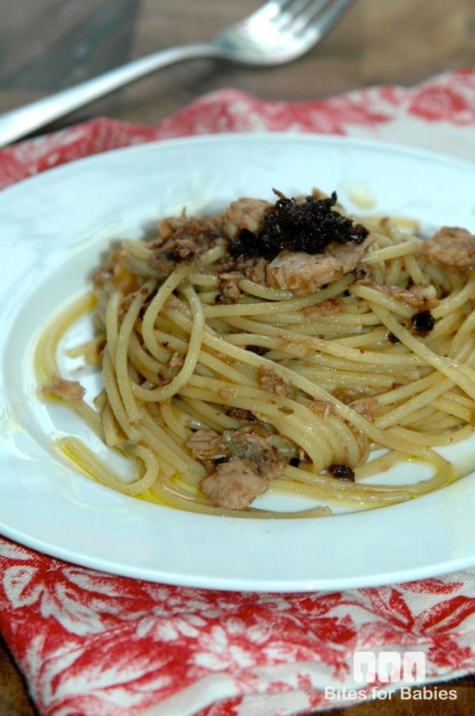 Tuna Olive Tapenade Spaghetti
