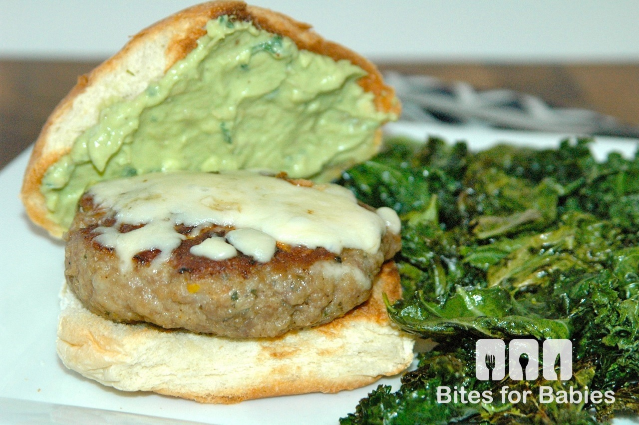 Mediterranean Turkey Burgers with Avocado Aioli