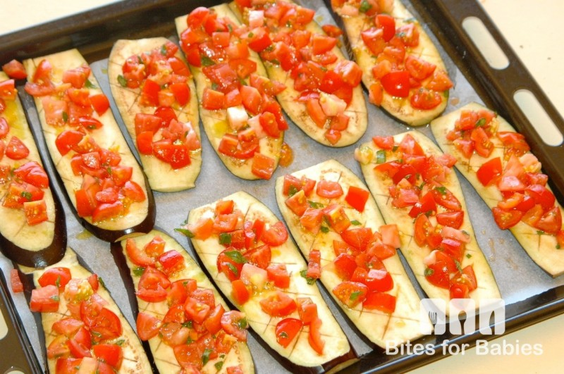 Roasted Bruschetta Eggplant