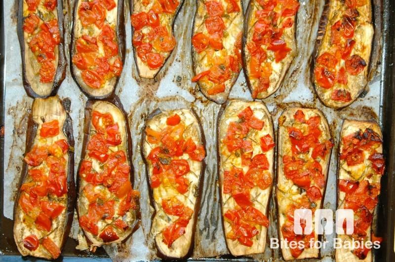Roasted Bruschetta Eggplant