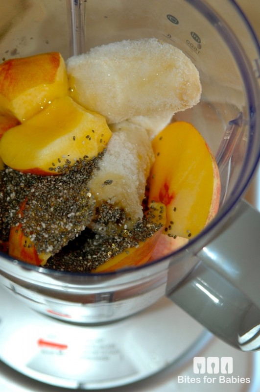 Banana Peach Chia Smoothie