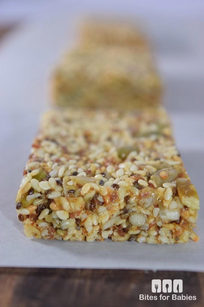 Chewy Sesame Seed Bars