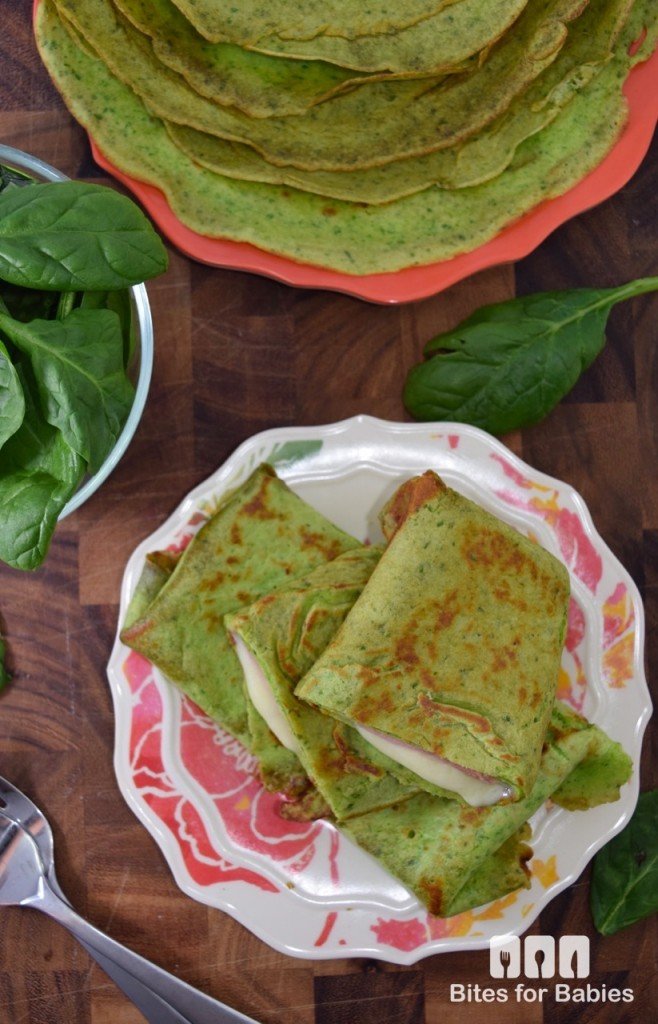 Savoury Spinach Crepes