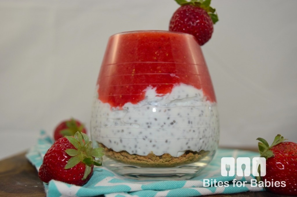 Strawberry Cheesecake Chia Pudding
