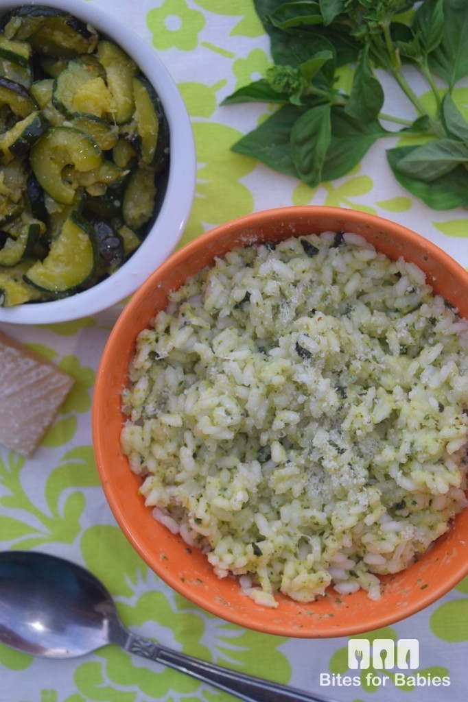 Cheesy Zucchini Pesto Risotto