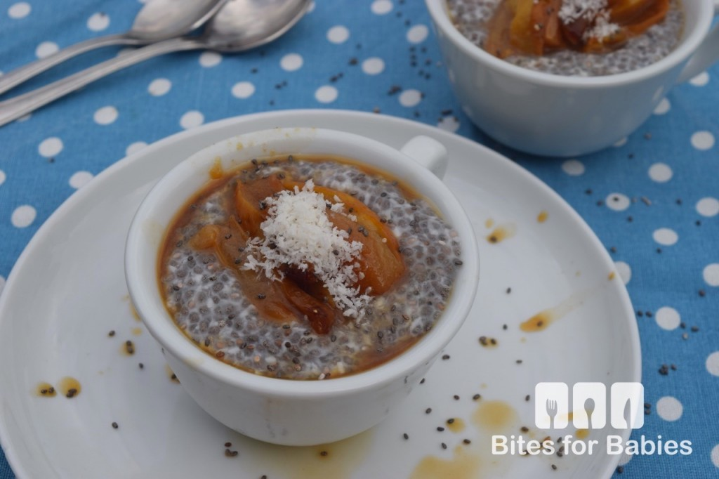 Coconut Chia Pudding with Caramelized Pears