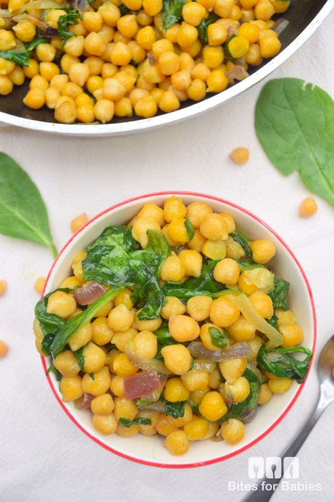 Curried Chickpeas and Spinach