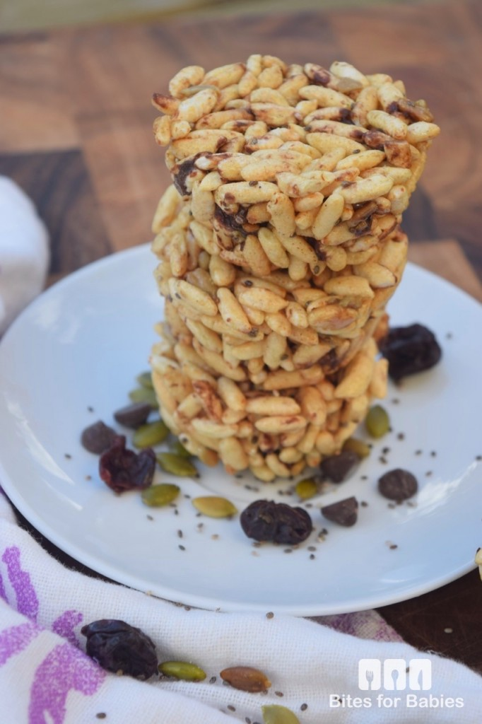 Chocolate Cherry Puffed Rice Cupcakes