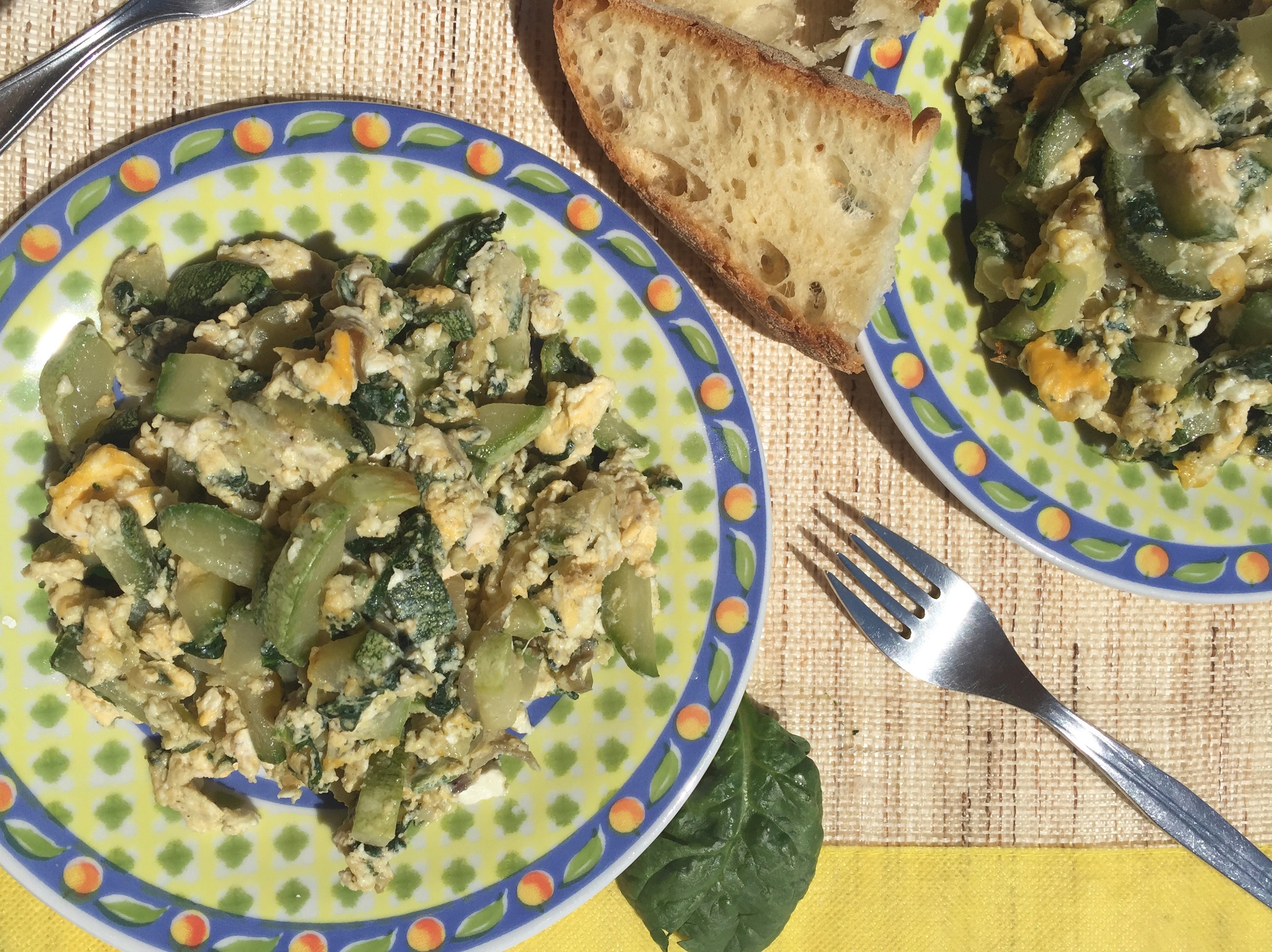 Clean Eating Zucchini Spinach Scramble