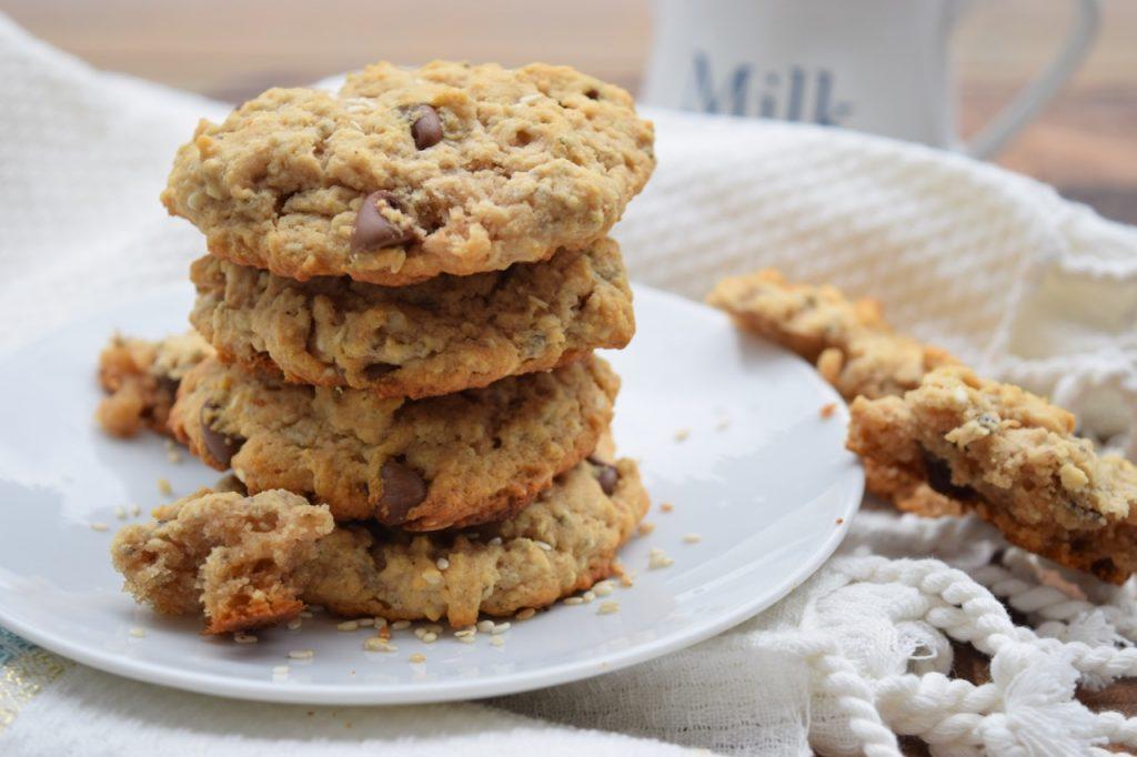 Vegan Peanut Butter Sesame Cookies