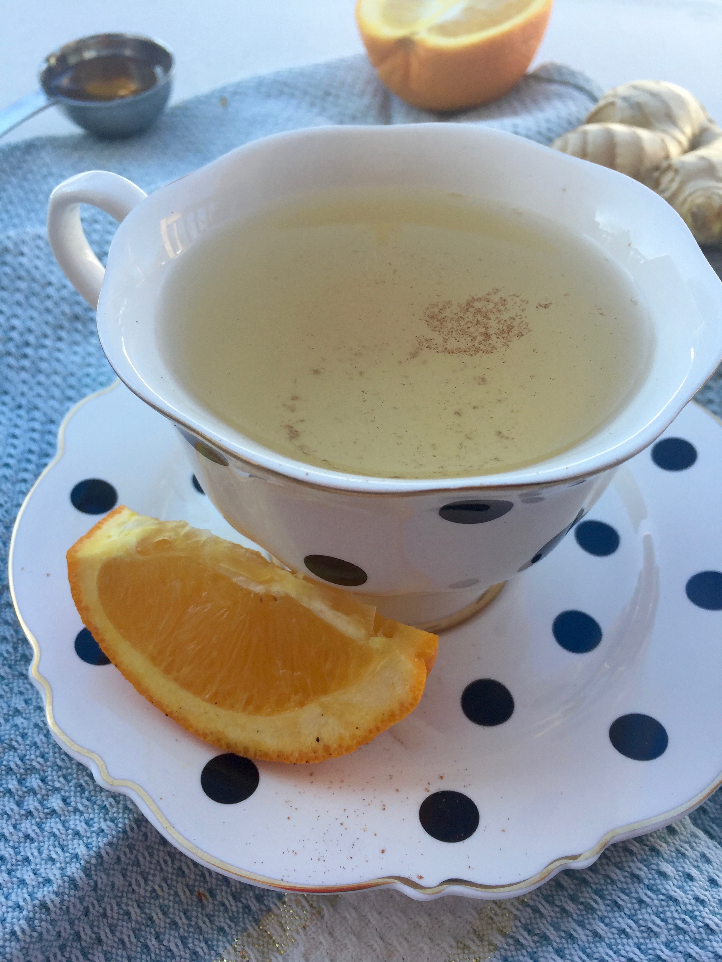 Healing Ginger Orange Honey Tea