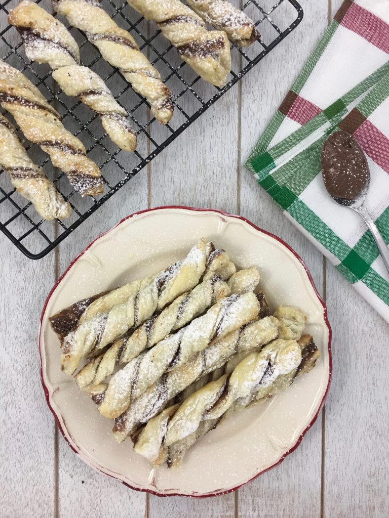 Easy Puff Pastry Nutella Twists