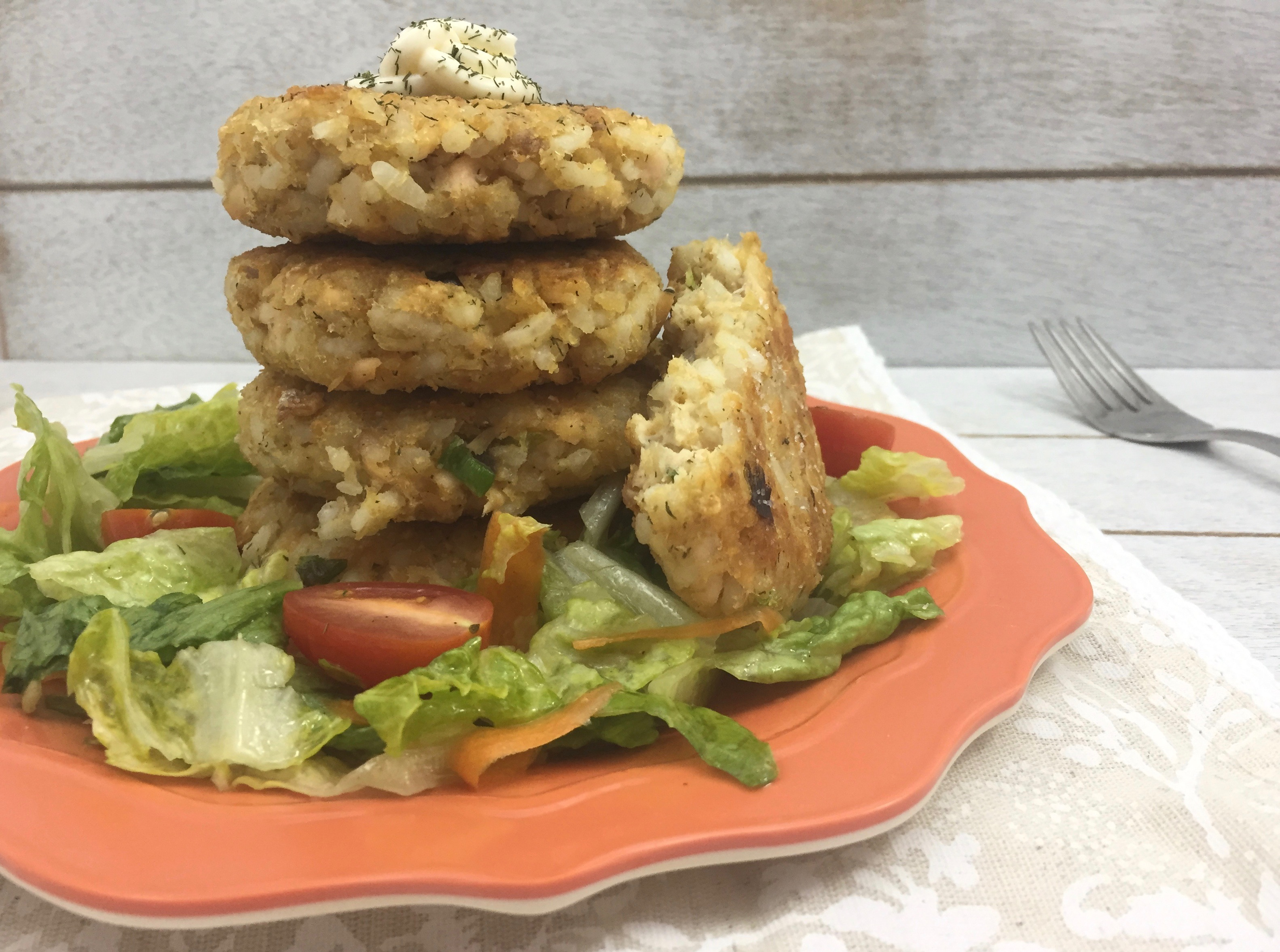 Healthy Salmon Rice Burgers