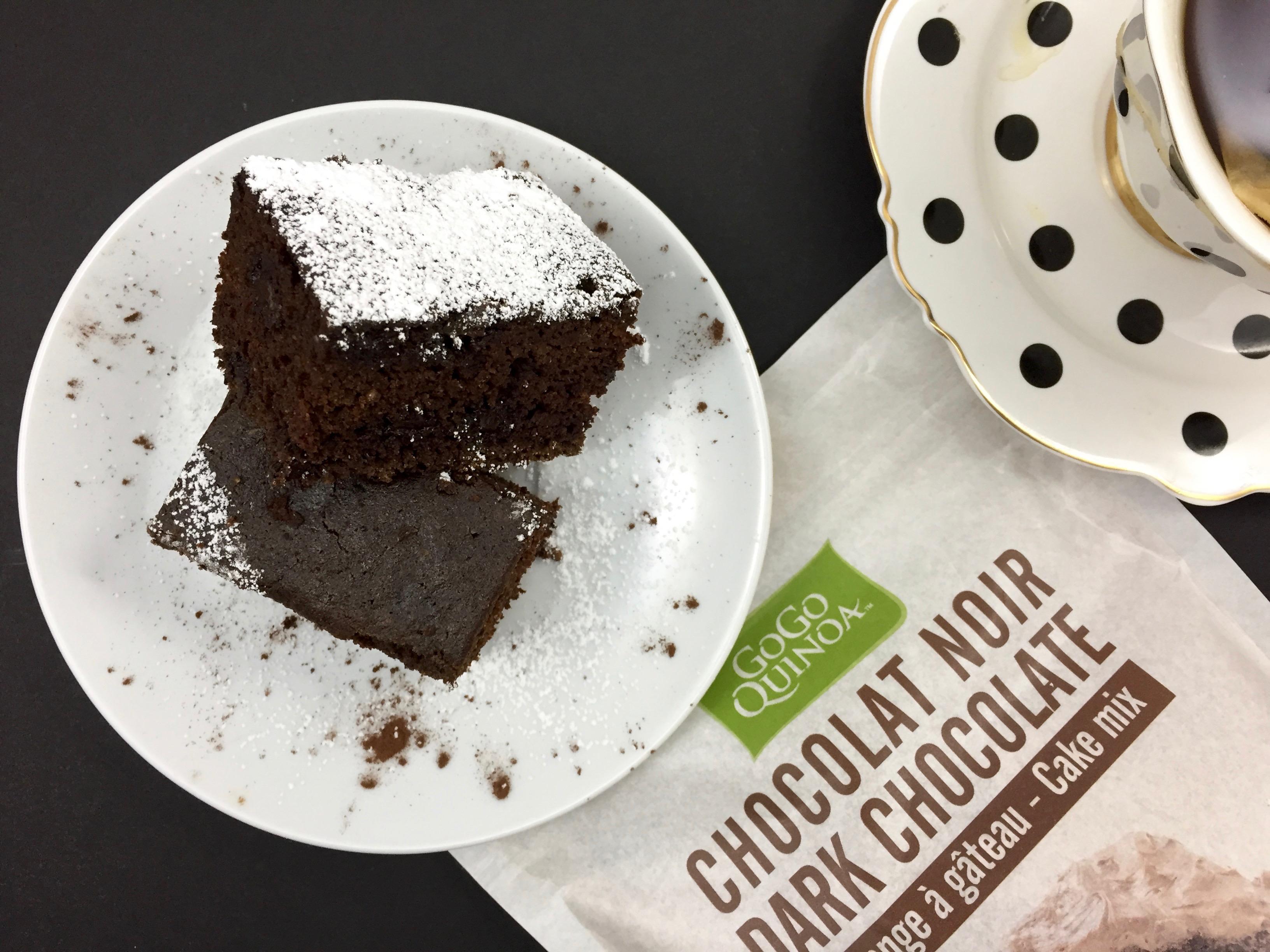 Gluten Free Chocolate Cake + GoGo Quinoa Giveaway