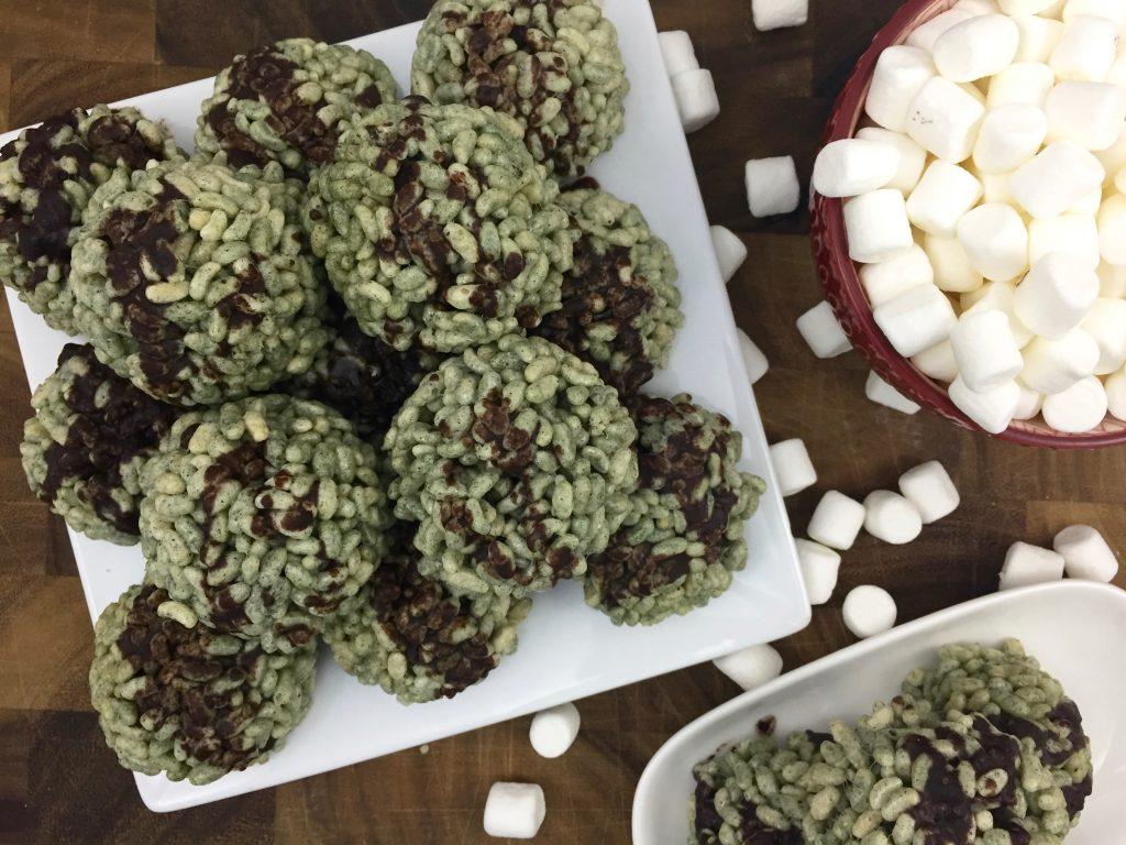 St.Patrick's Day Rice Krispie Bites