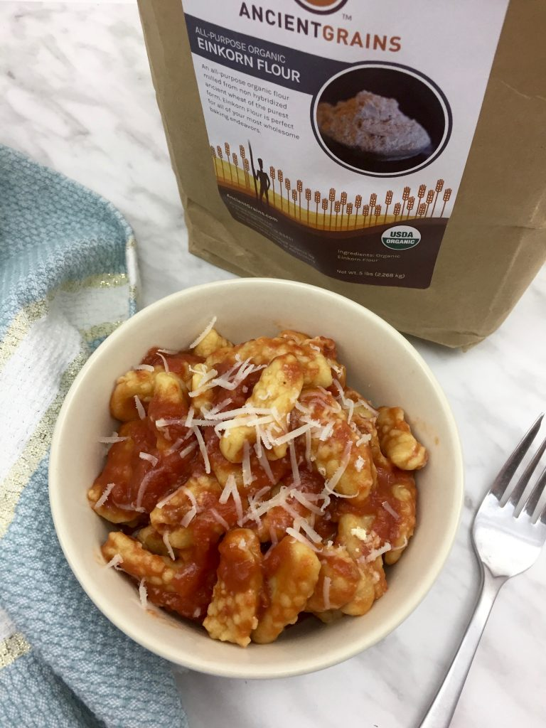 Sardinian Gnocchi + Ancient Grains Einkorn Flour Review & Giveaway