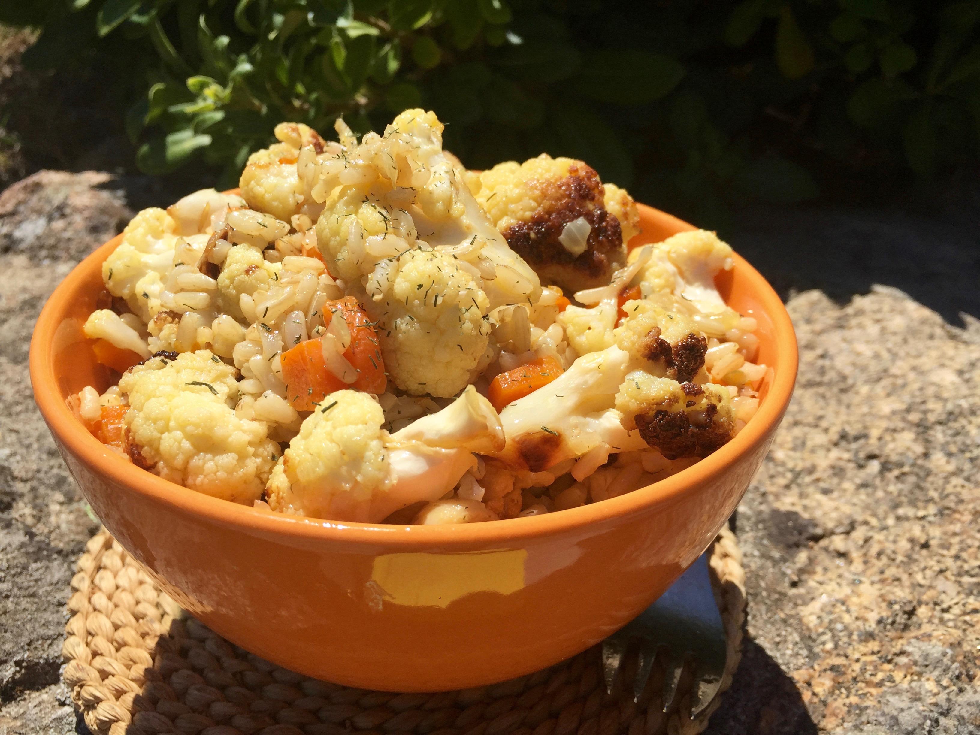 Curried Cauliflower Rice Bowl