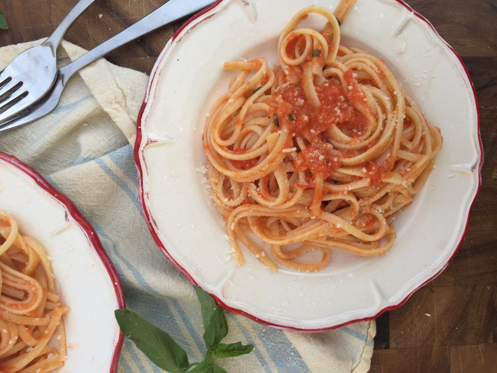 Roasted Tomato Fettuccine